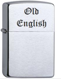 Zippo gravur old english